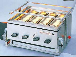 (かっぱ橋 ふじたクッキング 販売)アサヒ黒潮4号 SG-20K(バーナー4本)〈DGL-28〉グリラー 焼き物器 焼台 黒潮 ガス式 赤外線 下火 焼き物機 焼鳥 魚焼 鰻焼 うなぎ焼 焼き