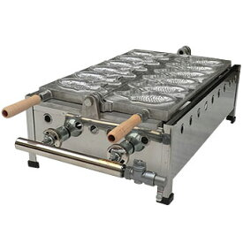【日本製ガス式たい焼き機】マルエフたい焼機1連式6匹 プロパンガス用