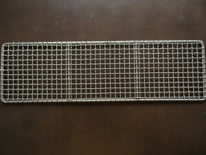 (ふじたクッキングオリジナル)500180マス目 線太さ2ミリ 網のひらきめ12ミリ 外枠5mm 焼き網18-8ステンレ500x180) だんご 焼鳥 魚 肉 野菜 串焼き 等に 焼鳥網 焼網 業務用