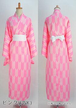 柄着物ピンク