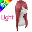 ウィッグ ロング ミディアム フルウィッグ コスプレ ウィッグ セミロング アッシュ ピンク 赤髪 軽い 軽量 加工 かつ…