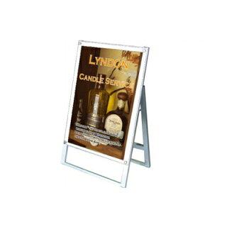 ポスター用スタンド看板(片面・A1縦・ホワイト)・ポスタースタンド・ポスターフレーム・ポスターパネル【HLS_DU】