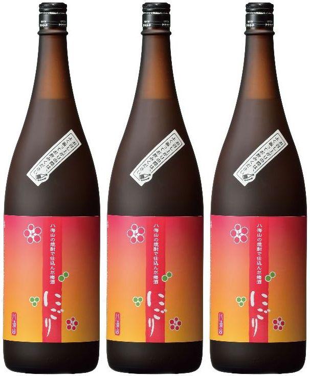 【送料無料】八海山の焼酎で仕込んだ梅酒【にごり梅酒】14度 1800ml×3本セット!※沖縄は別途送料が加算となります。