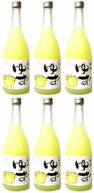 【柚子酒】梅乃宿 ゆず酒720ml×6本セット  【梅の宿】【梅乃宿酒造】【ゆずリキュール】
