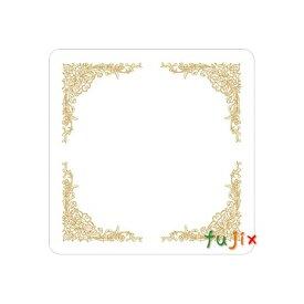 フジ 紙コースター 金(角型)厚み1mm 2000枚(100枚×20束)/ケース