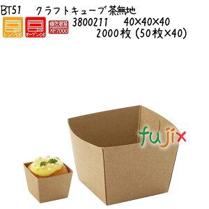 クラフトキューブ 茶無地 BT51 2000枚 (50枚×40)/ケース