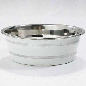 ターキー 犬用食器 ボーダーステンレス食器 犬用 超小型犬用 11cm ホワイト BSC-D110/WH【代引不可】