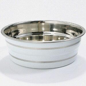 ターキー 犬用食器 ボーダーステンレス食器 犬用 小型犬用 13cm ホワイト BSC-D130/WH【代引不可】
