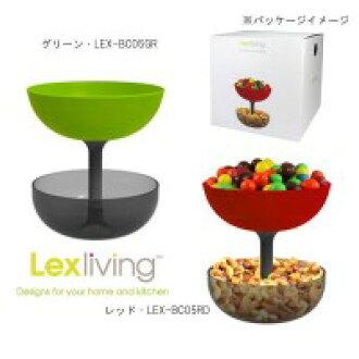 LEX 生活硅橡胶翻转碗可以星 (Filp 碗 & 罐) S 红 / LEX BC05RD