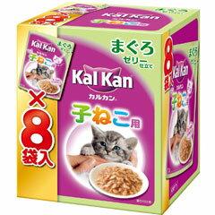 マースジャパン 猫用ウェットフード カルカン パウチ 12ヶ月までの子ねこ用 まぐろ 70g×8袋 KMP71【代引不可】