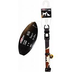ドギーマンハヤシ 犬猫用首輪 迷彩カラー SS 体重5kg以下 MD6211 ブラウン【代引不可】