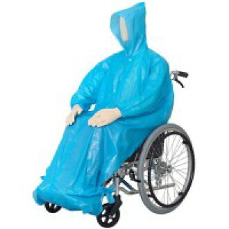 Utsunomiya-make life live lively, wheelchairs for raincoat disposable type (five pieces) one-size-fits-all 9174-7426