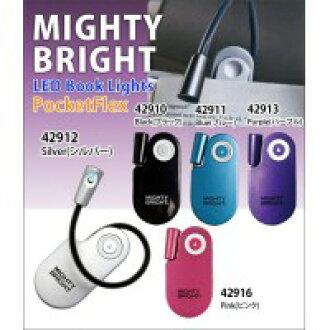 美国强大的明亮光强大 b PocketFlex 口袋 Flex LED 书灯 42916 & 粉红色 (粉红色)