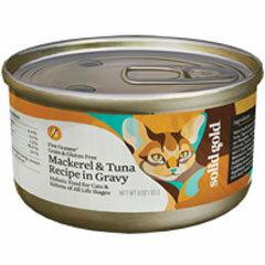 [P]ソリッドゴールド 猫用ウェットフード 缶詰 サバ&ツナ缶 85g【代引不可】