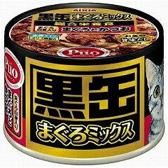 アイシア 猫用ウェットフード 缶詰 黒缶 まぐろミックス まぐろ白身入りまぐろとかつお 160g【代引不可】