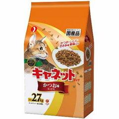 ペットライン 猫用ドライフード キャネットチップ かつお味ミックス 2.7kg【代引不可】