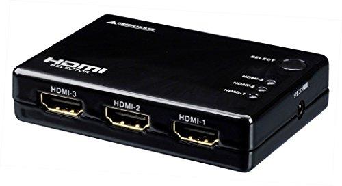 GREEN HOUSE(グリーンハウス) Deep Color/3D映像 フルHD映像対応 HDMI切換器 3台用 リモコン付 Input3+Output1ポート GH-HSW301