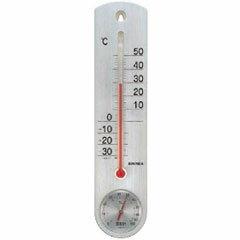 エンペックス くらしのメモリー 温・湿度計 シルバー TG-6717【代引不可】