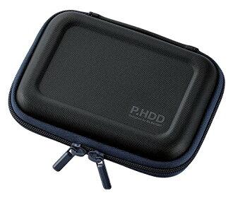 为便携式硬盘盒半硬 S 大小 HDD 跌伤预防与黑色 HDC-SH001BK