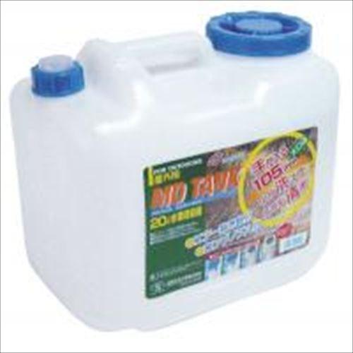 【送料無料】日本製 Japan 北陸土井工業 水缶 MDタンク20L ノズル付 〔まとめ買い24個セット〕 【代引不可】