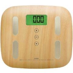 ドリテック 体重計 体重体組成計 BS-244 ナチュラルウッド【代引不可】