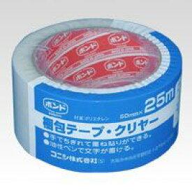 (まとめ買い)コニシ 梱包テープ 透明50mmX25m #67949 00003654 〔5巻セット〕