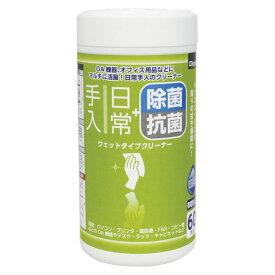 (まとめ買い)ナカバヤシ ウェットクリーナ/日常2/ボトル60枚 DGCW-B5060 00025192 〔5個セット〕
