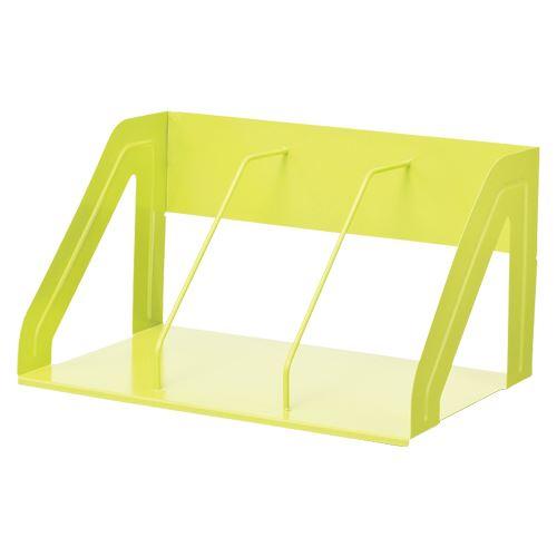 (まとめ買い)リヒトラブ ブックスタンド390mm 黄緑 A-7345-6 00005081 〔3台セット〕
