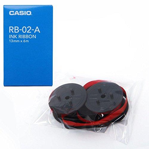 (まとめ)カシオ プリンター電卓用インクリボン RB-02A 00006667 〔まとめ買い×5セット〕