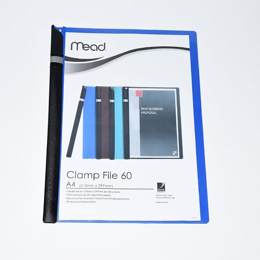 (まとめ)アコ・ブランズ クランプファイルブルー 〔まとめ買い5冊セット〕 M2003001-J