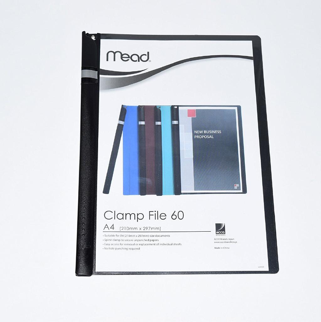(まとめ)アコ・ブランズ クランプファイルブラック 〔まとめ買い5冊セット〕 M2003002-J