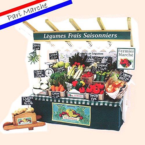 ビリーの手作りドールハウスキット パリのマルシェキット「 パリの八百屋さん 」 〔組み立て12分の1工作模型 1/12ミニチュア 手作りキット 野菜 手芸〕