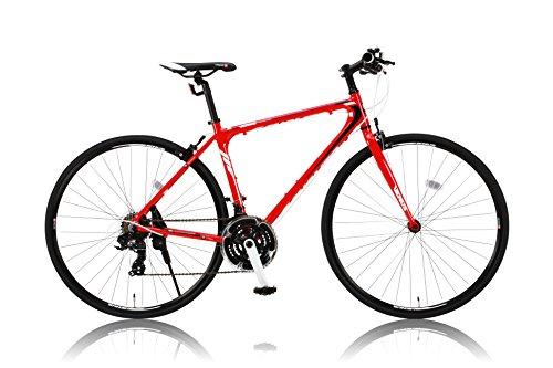 【送料無料】カノーバー 700×25C クロスバイク アルミフレーム フレームサイズ470mm 21段変速 VENUS(ビーナス) ラピッドファイヤー LEDライト標準装備 レッド【代引不可】
