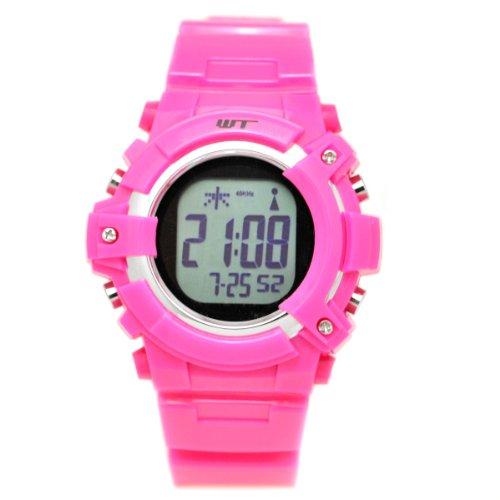 [ウェーブトランス]WaveTrance 腕時計 電波ソーラーウォッチ スポーツ デジタル ローズピンク WT13003-RCSOL-5