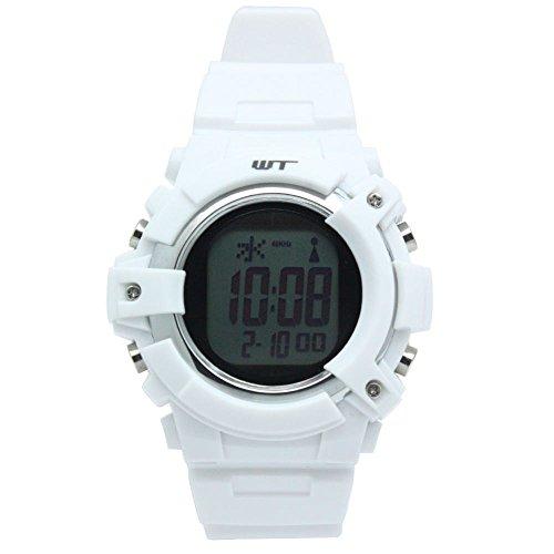 [ウェーブトランス]WaveTrance 腕時計 電波ソーラーウォッチ スポーツ デジタル ホワイト WT13003-RCSOL-12 メンズ