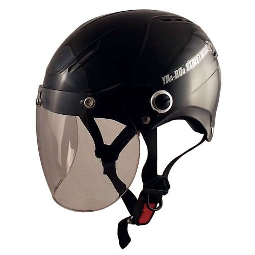 TNK工業 スピードピット バイクヘルメット ハーフ シールド付STR-X JT ブラック BIG(60-62cm未満)51177【代引不可】