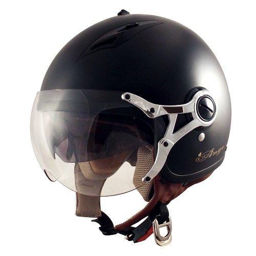 TNK インナーバイザー付きジェットヘルメット AG-16 ハーフマッドブラック LADYS FREE(57-58cm未満) 51184【代引不可】
