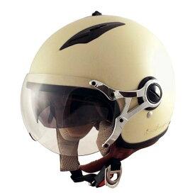 TNK インナーバイザー付きジェットヘルメット AG-16 ハーフマッドアイボリー LADYS FREE(57-58cm未満) 51185【代引不可】