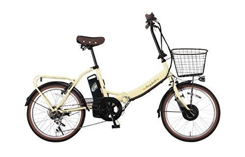 【送料無料】Raychell(レイチェル) 20インチ 電動自転車 FB-206R-EA 6段変速 グリップシフト フロントLEDライト アイボリー [メーカー保証1...【代引不可】