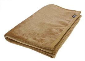 速暖 エコでウォーム 毛布 ダブル(約180×200cm)キャメル【代引不可】