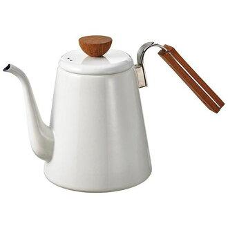 HARIO Hario VONA enamel / enamel drip coffee kettle open fire, IH-adaptive BDK-80-W