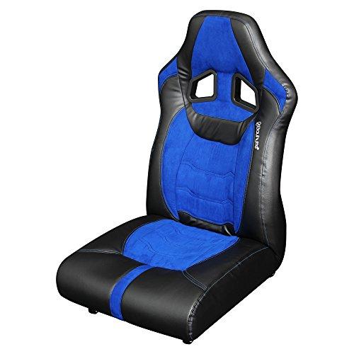 【送料無料】Bauhutte (バウヒュッテ) ゲーミング座椅子 リクライニング ポケットコイルクッション ロック付きキャスター採用 LOC-01-BU【代引不可】