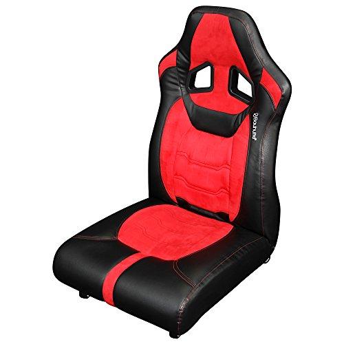 【送料無料】Bauhutte (バウヒュッテ) ゲーミング座椅子 リクライニング ポケットコイルクッション ロック付きキャスター採用 LOC-01-RD【代引不可】