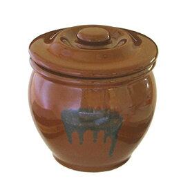 リビング 陶器製 ミニ壷 漬物 容器 蓋付 〔まとめ買い業務用にも最適】 0.54L 〔まとめ買い24個セット〕【代引不可】