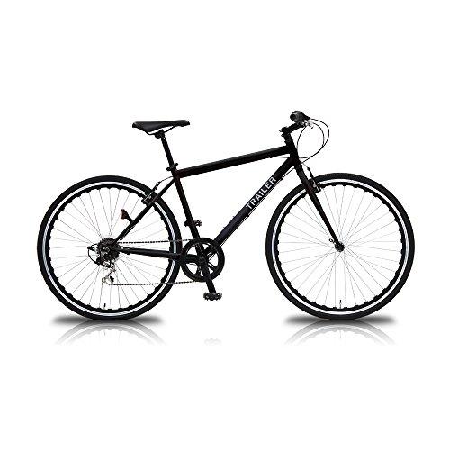 【送料無料】TRAILER(トレイラー) 700Cクロスバイク6段変速ブラック TR-C7003-BK ブラック【代引不可】
