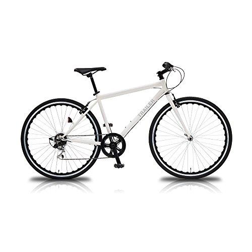 【送料無料】TRAILER(トレイラー) 700Cクロスバイク6段変速ホワイト TR-C7003-WH ホワイト【代引不可】
