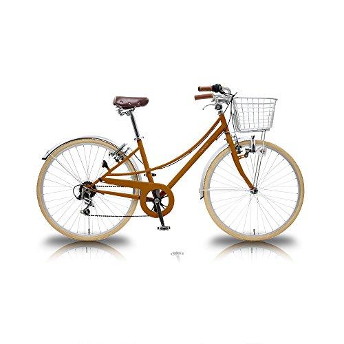 【送料無料】TRAILER(トレイラー) 26インチシティバイク6段変速 Finie(ファイニー) TR-CT2603 (OR(オレンジ))【代引不可】