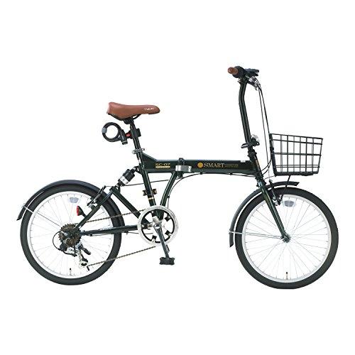 【送料無料】My Pallas(マイパラス) 折畳自転車 20インチ 6段ギア オールインワン カラー/ダークグリーン SC-07PLUS SC-07PLUS ダークグリーン 20インチ【代引不可】