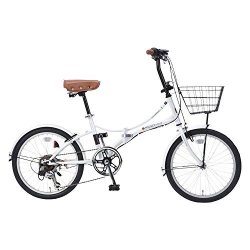 【送料無料】My Pallas(マイパラス) 折りたたみ自転車 20インチ 6段変速 オールインワン カラー/ホワイト SC-08PLUS SC-08PLUS ホワイト 20インチ【代引不可】
