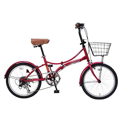 【送料無料】My Pallas(マイパラス) 折りたたみ自転車 20インチ 6段変速 オールインワン カラー/クリムゾン SC-08PLUS SC-08PLUS クリムゾン 20インチ【代引不可】